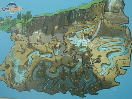 Cave World map