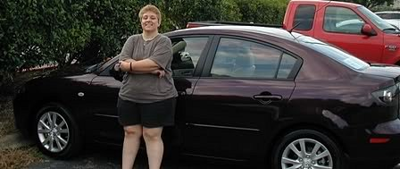 Amy with new car